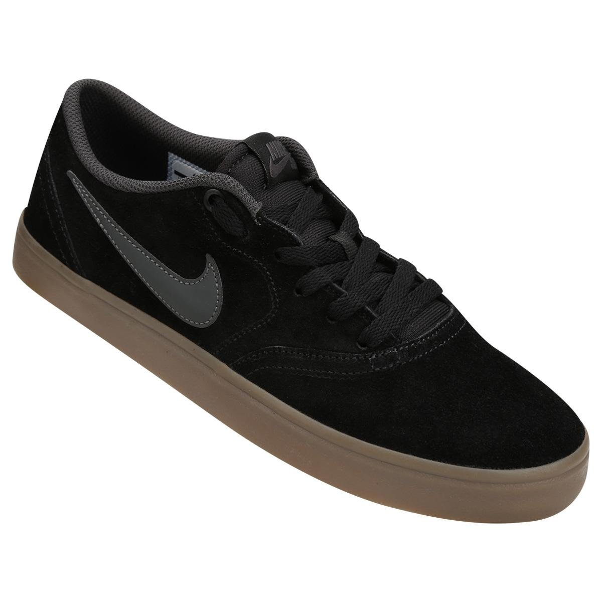 Tênis Nike Sb Check Solar Masculino - Preto e Marrom - Compre Agora ... 7d80c268036