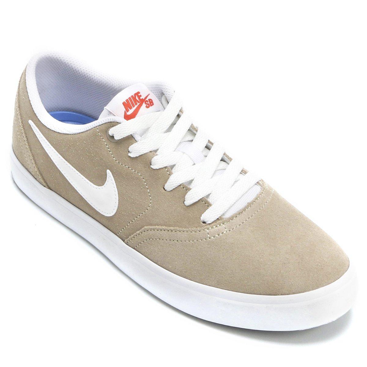 Tênis Nike Sb Check Solar Masculino - Bege e Branco - Compre Agora ... 7497af0a5de