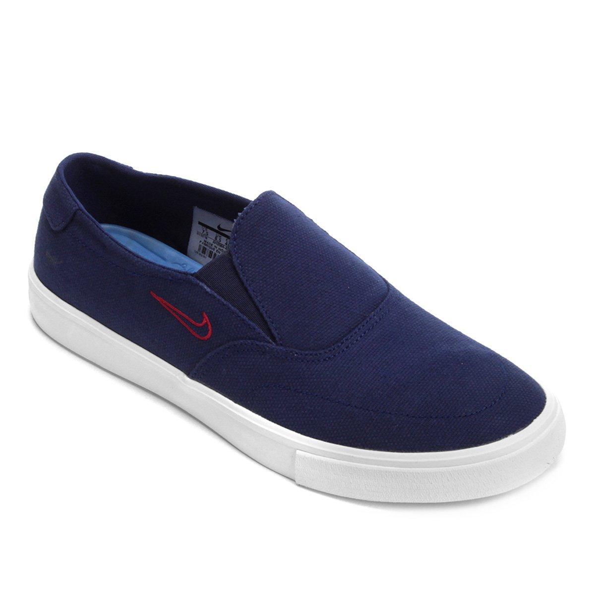 Tênis Nike SB Portmore II Solarsoft Slip Masculino - Azul - Compre ... ac9255a2c6472