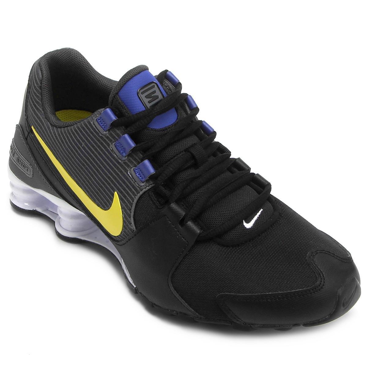 1d8d36bfaf Tênis Nike Shox Avenue Masculino - Preto e Azul   Shop Timão