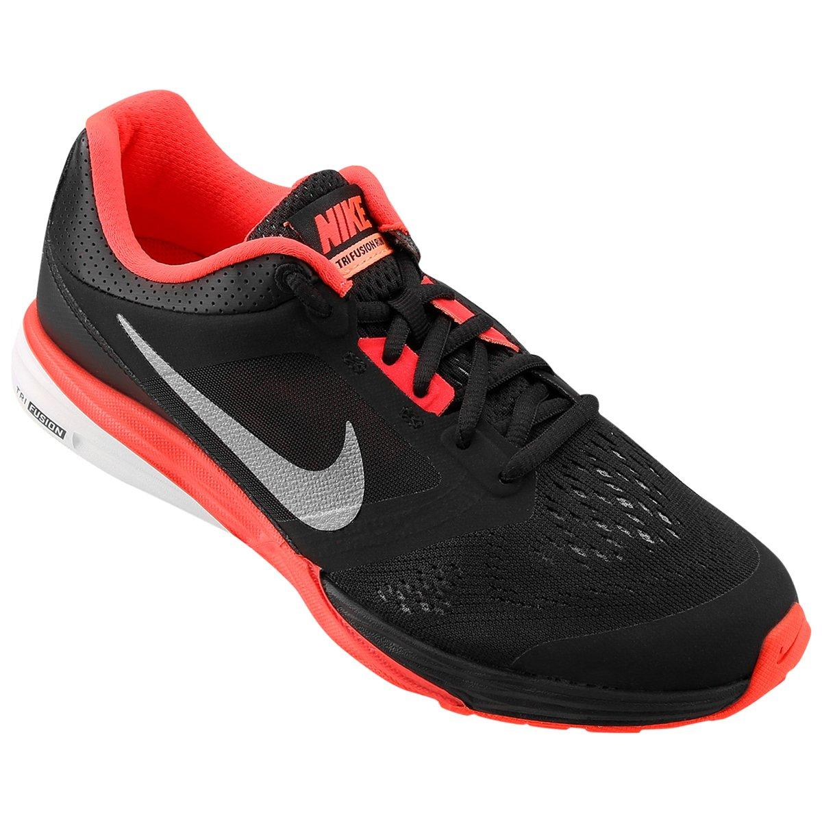 6ce957d65b0 Tênis Nike Tri Fusion Run MSL Feminino - Preto e Vermelho - Compre Agora