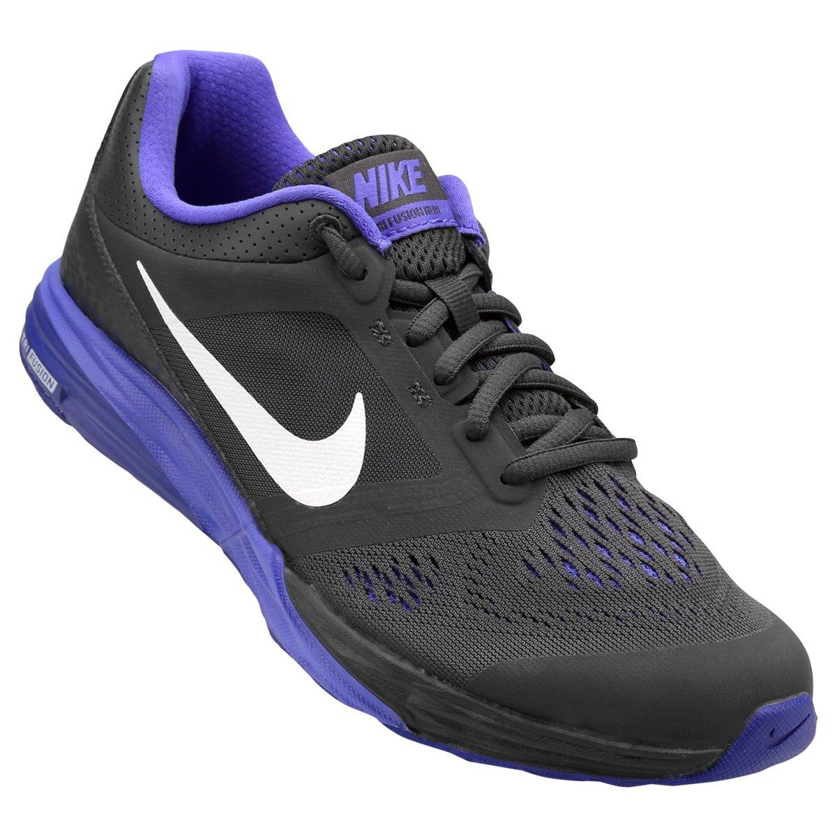 1c1948191b3 Tênis Nike Tri Fusion Run MSL Feminino - Preto e Roxo - Compre Agora ...