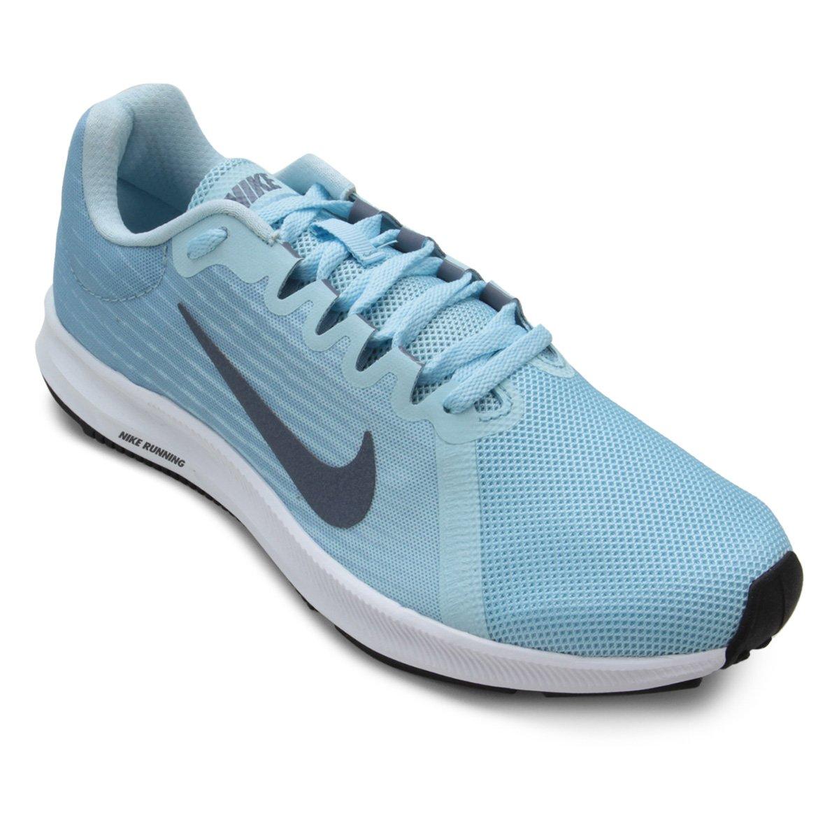 Tênis Nike Wmns Downshifter 8 Feminino - Azul Claro - Compre Agora ... f3e932dc5804b