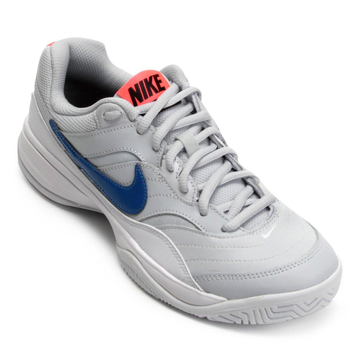 f54fa530d6 307d5323983de3  Tênis Nike Wmns Nike Court Lite Feminino - Cinza e Azul -  Compre .