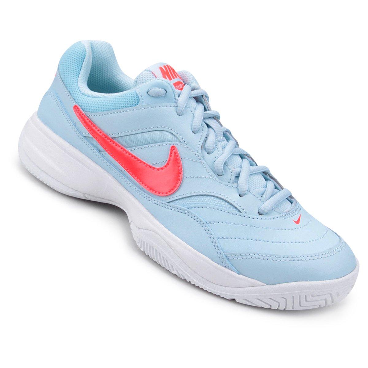 27d70fa8921 Tênis Nike Wmns Nike Court Lite Feminino - Azul e Rosa - Compre Agora