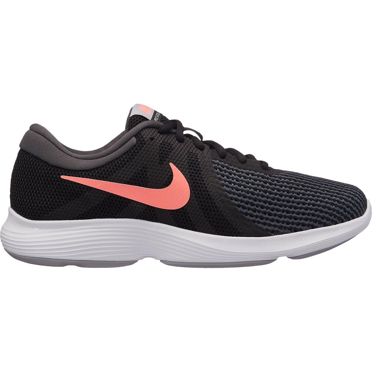 eb6e165b19b Tênis Nike Wmns Revolution 4 Feminino - Preto e Salmão - Compre Agora