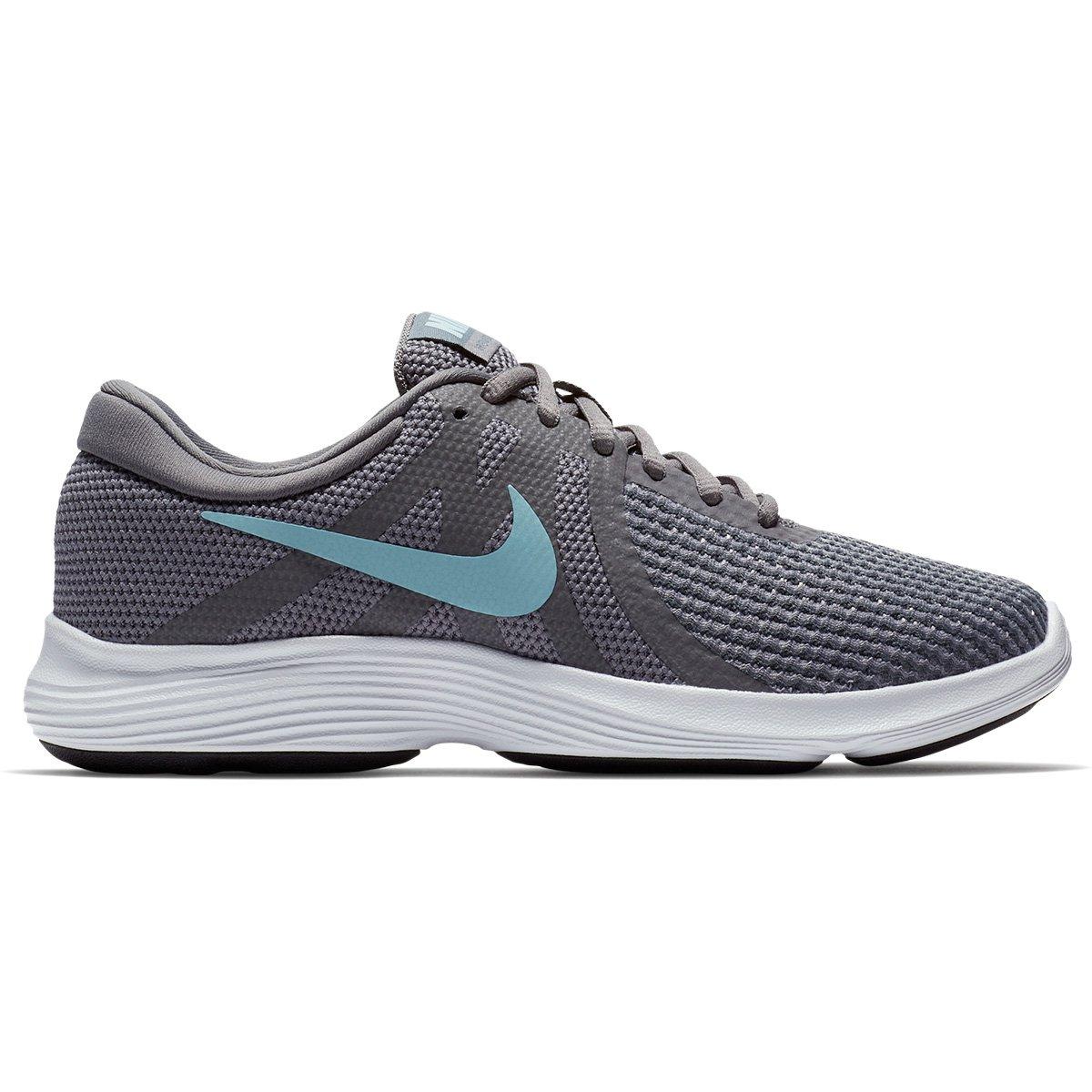 81d37b35f5 Tênis Nike Wmns Revolution 4 Feminino - Cinza e Azul - Compre Agora ...