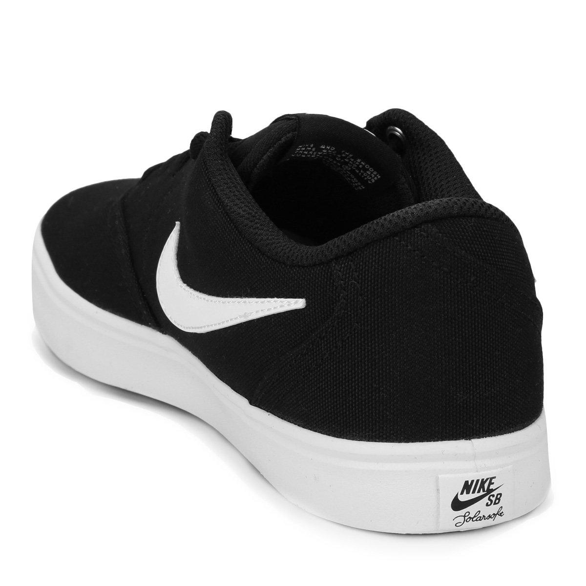Tênis Nike Wmns Sb Check Solar Cnvs Feminino - Preto e Branco ... 7d67c0370d3bb