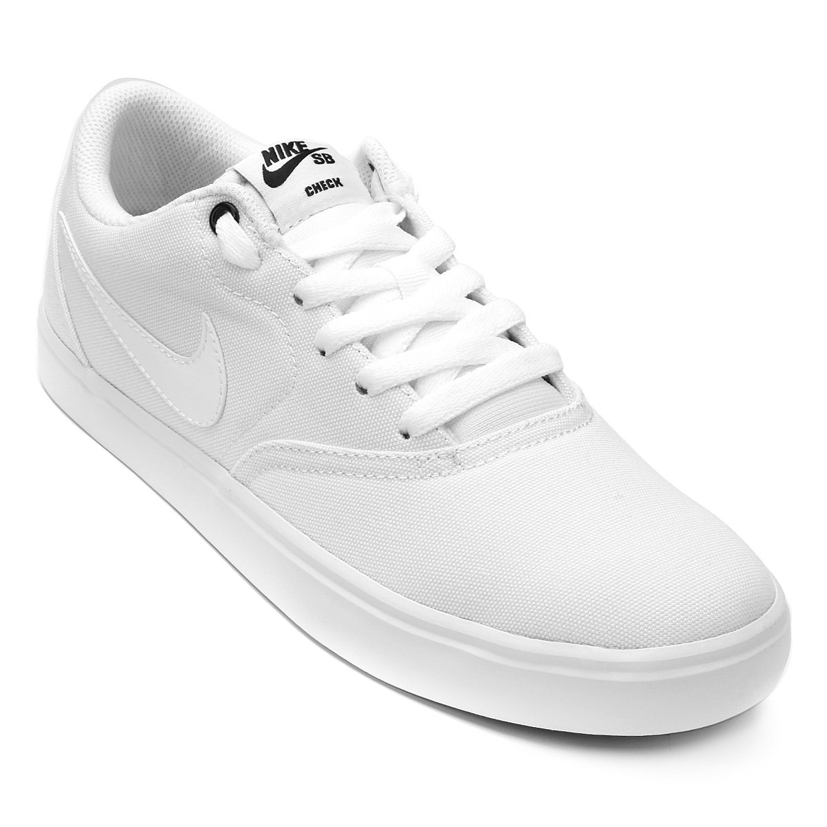 b40ec167df6 Tênis Nike Wmns Sb Check Solar Cnvs Feminino - Branco e Preto - Compre  Agora