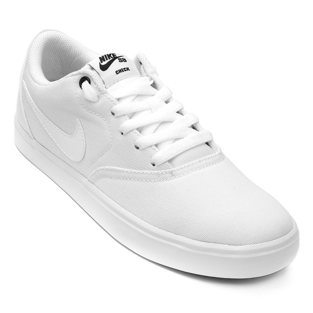 Tênis Nike Wmns Sb Check Solar Cnvs Feminino - Branco e Preto - Compre  Agora  8169eaa4f6e