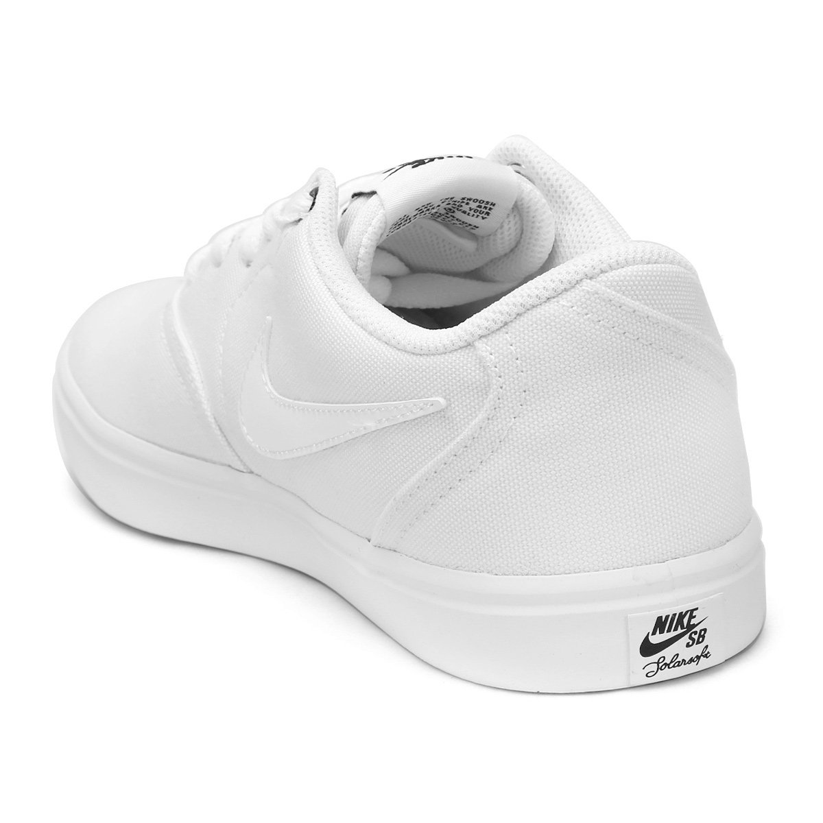 Tênis Nike Wmns Sb Check Solar Cnvs Feminino - Branco e Preto ... 335f064b45c0b