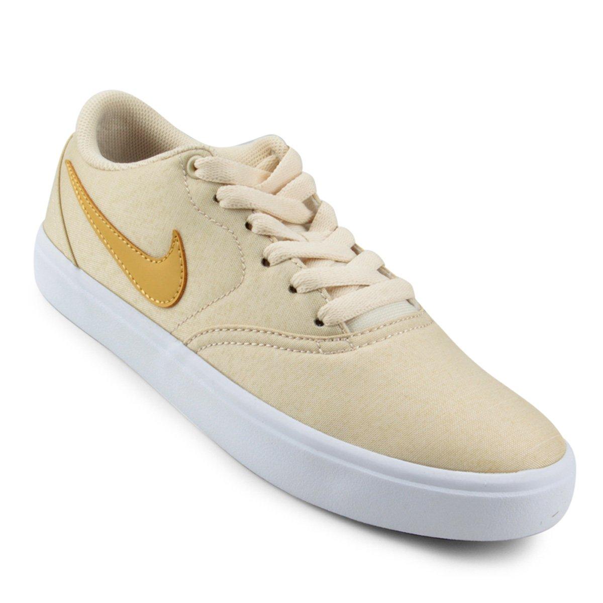 63b8af63c Tênis Nike Wmns Sb Check Solar Cvs P Feminino - Amarelo - Compre Agora