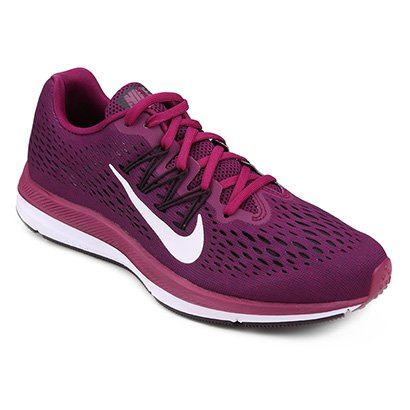 b52bf9c8f5d Tênis Nike WMNS Zoom Winflo 5 Feminino - Vinho - Compre Agora