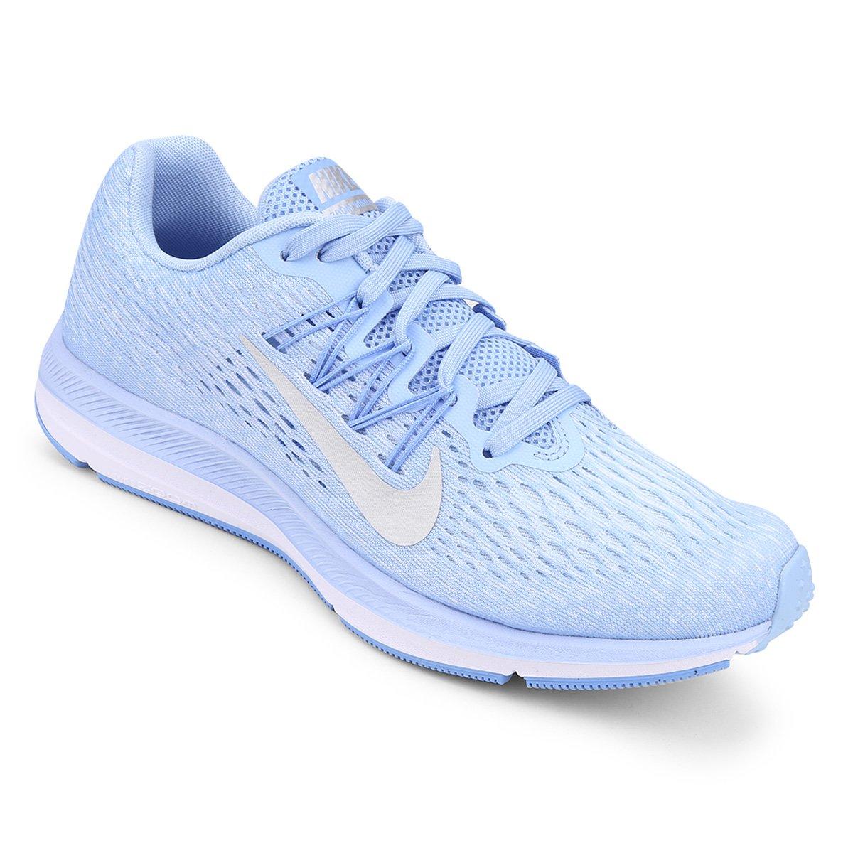 d9d195fdb3 Tênis Nike WMNS Zoom Winflo 5 Feminino - Azul e Prata - Compre Agora ...