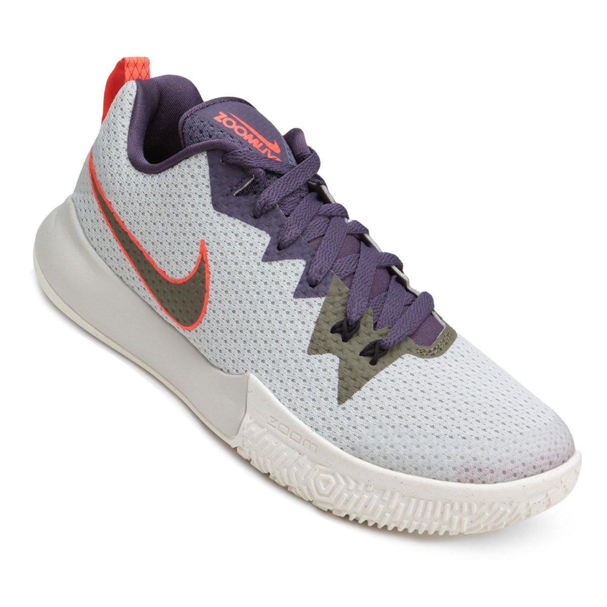 c2a9919e123 Tênis Nike Zoom Live II Masculino - Branco e Roxo - Compre Agora ...