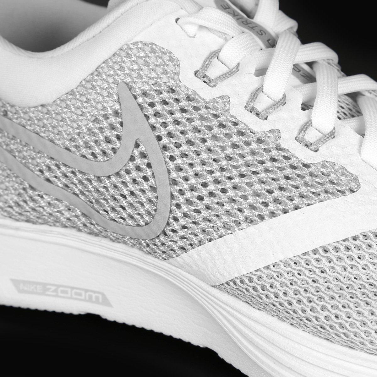 670d1f7883 Tênis Nike Zoom Strike Feminino - Branco e Cinza - Compre Agora ...