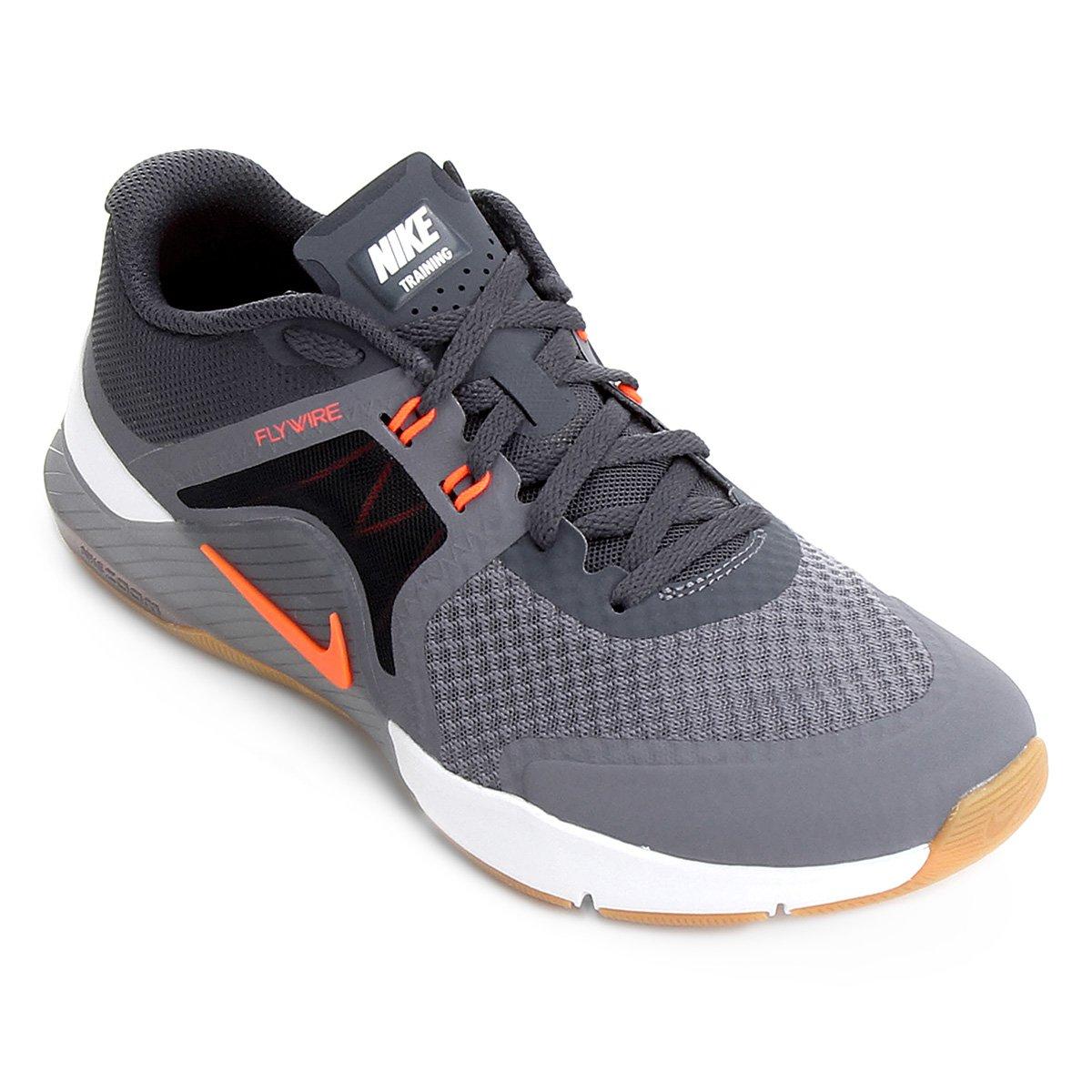 6560ead00b1 Tênis Nike Zoom Train Complete 2 Masculino - Cinza e Laranja - Compre Agora