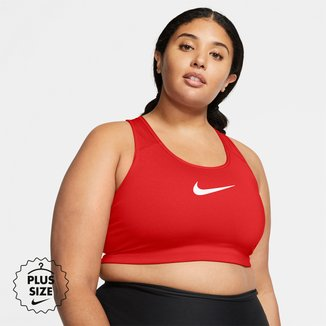 Top Plus Size Nike Plus Swoosh Média Sustentação